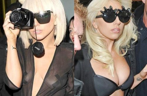 Lady Gaga breast implants before after