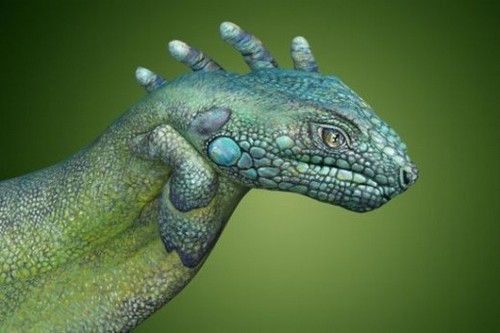25 Photos of Epic Animal Hand Art (13)