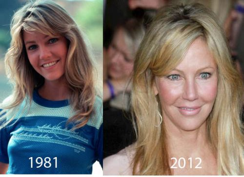 Heather Locklear now and then
