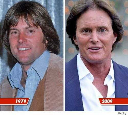 Bruce Jenner then and now