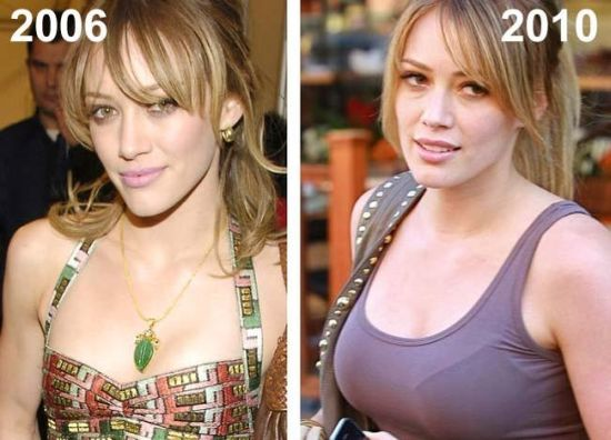 Hillary Duff then and now