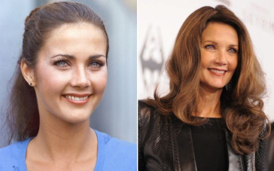 Lynda Carter then and now