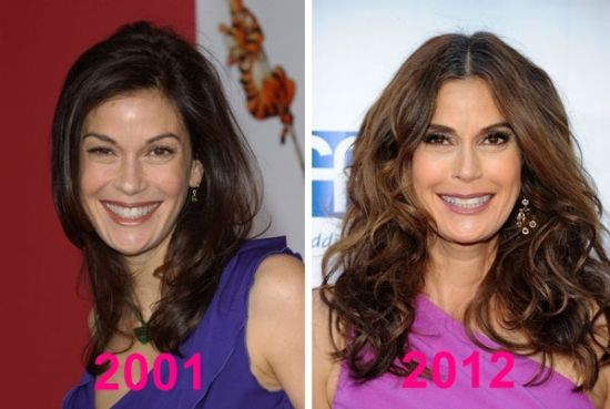 before and after photo of Teri Hatcher