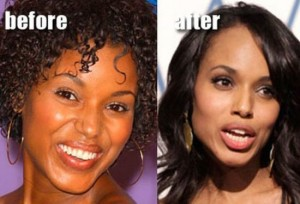 Kerry Washington Plastic Surgery Has No Conclusive Evidences