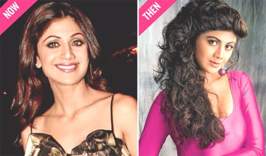 Shilpa Shetty now and then
