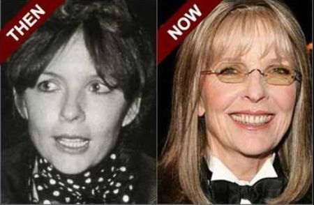 Diane Keaton then and now