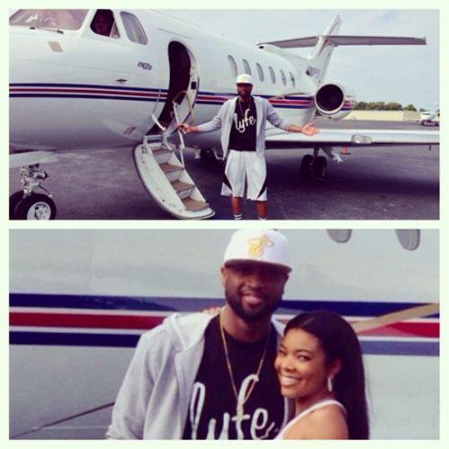 Gabrielle Union & Dwyane Wade's private jet