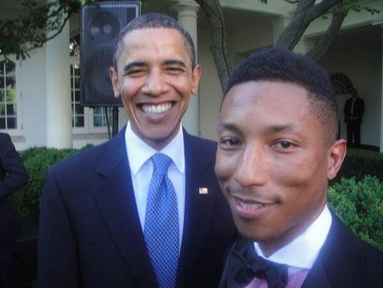 Pharrell and Obama
