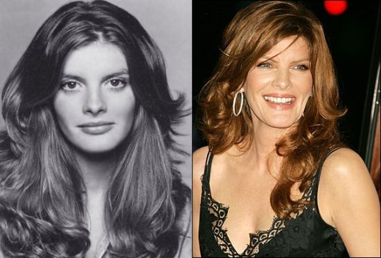 Rene Russo then and now