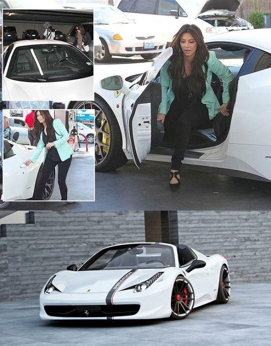 Kim Kardashian's Ferrari 458 Italia Spider
