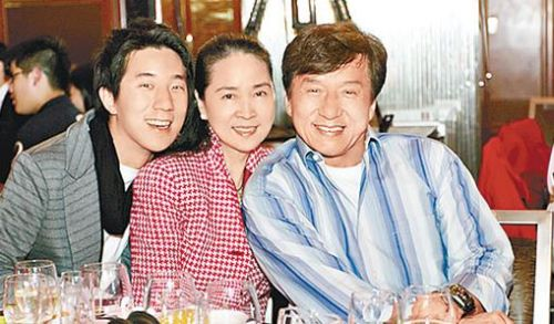 Jackie Chan and his wife