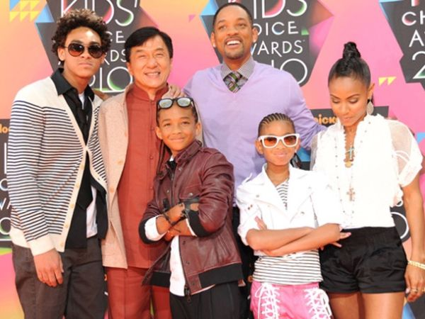 Jackie Chan with Will Smith's family
