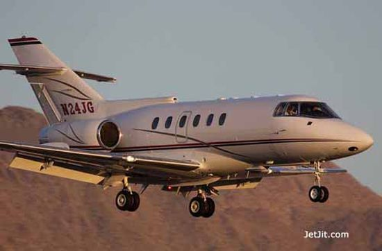 Jeff Gordon's Private Jet - Hawker 800