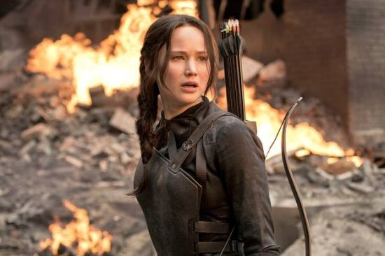 Jennifer Lawrence in Hunger games mockingjay part-2