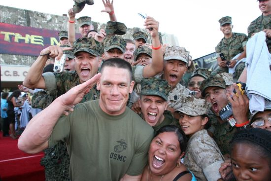 John Cena visiting army troops