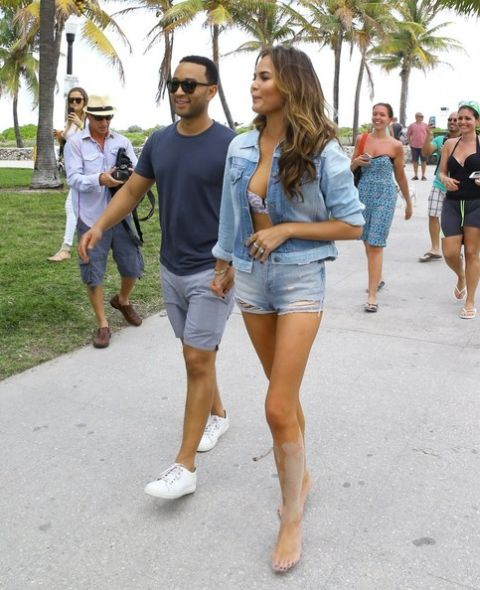 John Legend & Chrissy Teigen in Miami