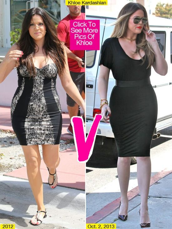 Khloe Kardashian weight loss before after photo