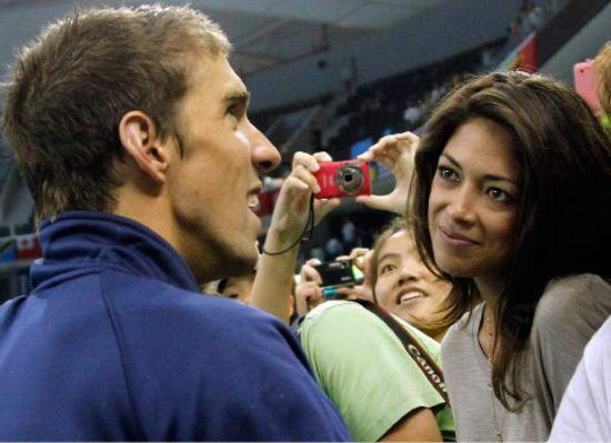 Michael Phelps with Nicole Johnson