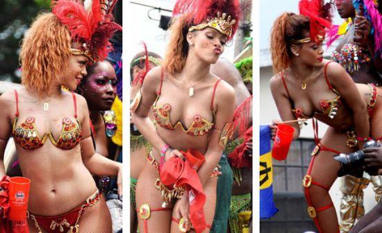Rihanna Celebrating Carnival