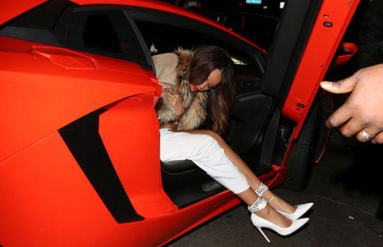 Rihanna's car lamborghini