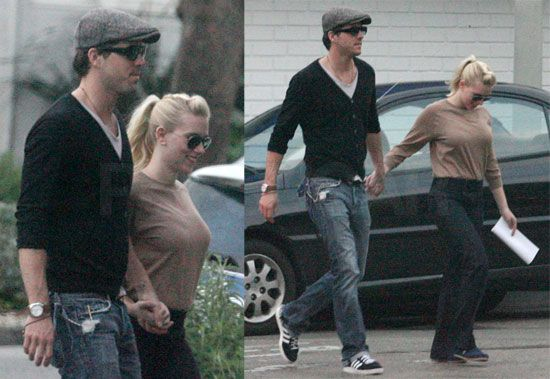 Scarlett Johansson with ex husband Ryan Reynolds